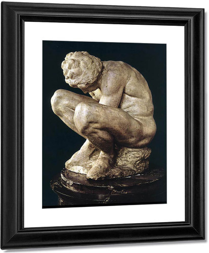 Crouching Boy By Michelangelo Buonarroti By Michelangelo Buonarroti