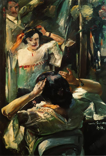 At The Mirror By Lovis Corinth