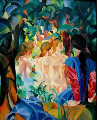 Bathers By August Macke
