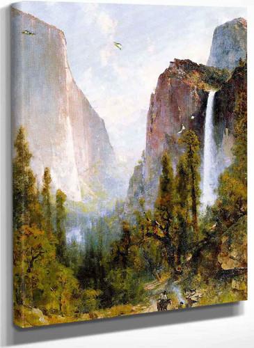 Bridal Veil Fall Yosemite Valley By Thomas Hill