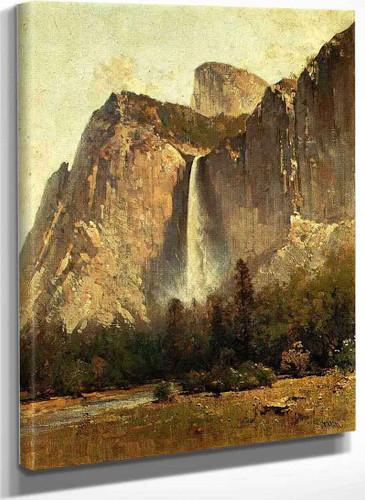 Bridal Veil Falls Yosemite Valley By Thomas Hill