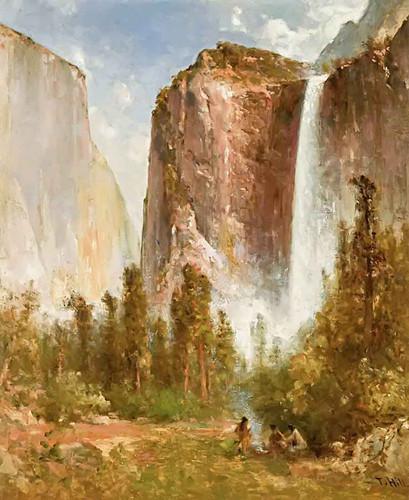 Bridal Veil Falls By Thomas Hill
