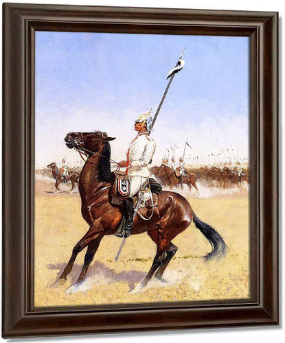 Cuirassiers By Frederic Remington Oil on Canvas Reproduction
