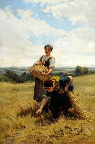 Gleaners By Frederick Morgan