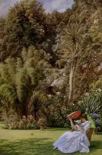 In A Garden By Sir Edward John Poynter