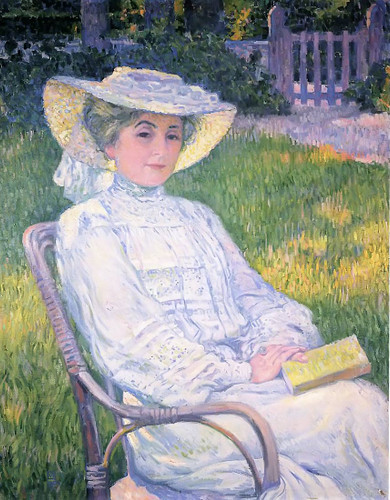 Madame Theo Van Rysselberghe In The Garden By Theo Van Rysselberghe