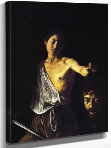 David With The Head Of Goliath 1 By Caravaggio By Caravaggio