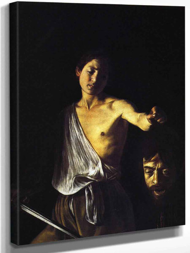 David With The Head Of Goliath 1 By Caravaggio By Caravaggio
