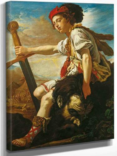 David With The Head Of Goliath 1 By Domenico Fetti