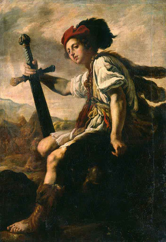 David With The Head Of Goliath By Domenico Fetti