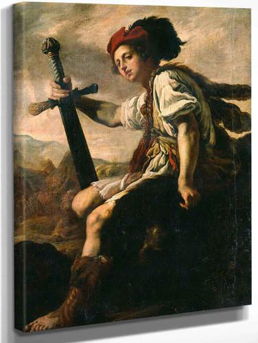 David With The Head Of Goliath By Domenico Fetti