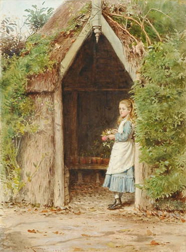 Daydreaming By George Goodwin Kilburne By George Goodwin Kilburne