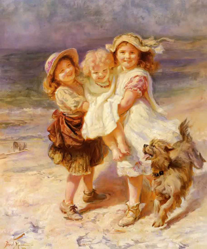 On The Beach By Frederick Morgan