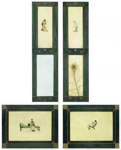 Panels From Alma Tademas Cupboard By Sir Lawrence Alma Tadema