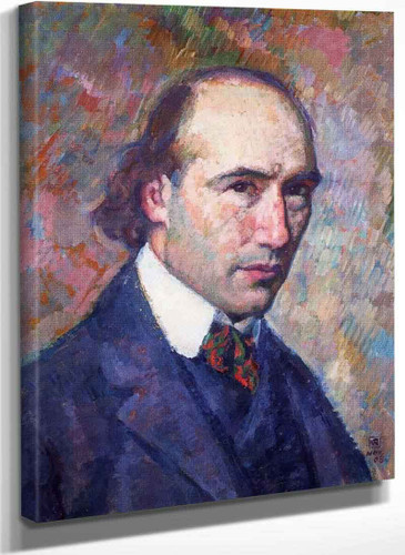Portrait Of Andre Gide By Theo Van Rysselberghe