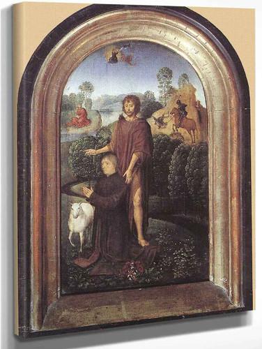 Diptych Of Jean De Cellier 1 By Hans Memling