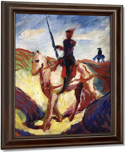 Don Quixote By August Macke Oil on Canvas Reproduction