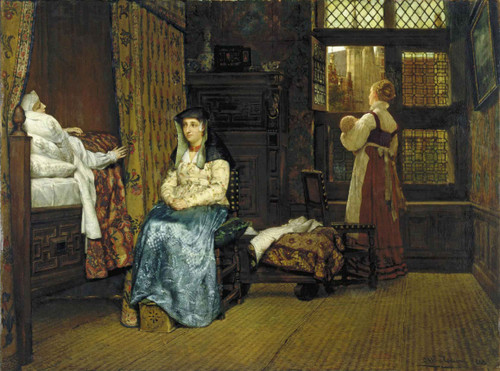 A Birth Chamber Seventeenth Century (Also Known As The Visit A Dutch Interior) By Sir Lawrence Alma Tadema