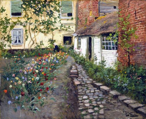 A Garden Path By Fritz Thaulow