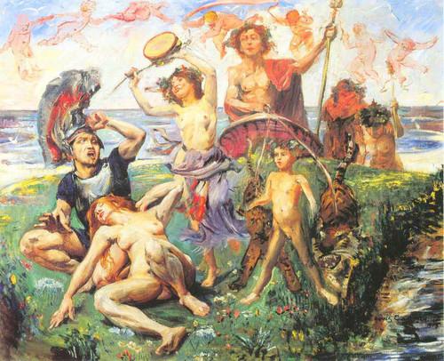 Ariadne Auf Naxos By Lovis Corinth