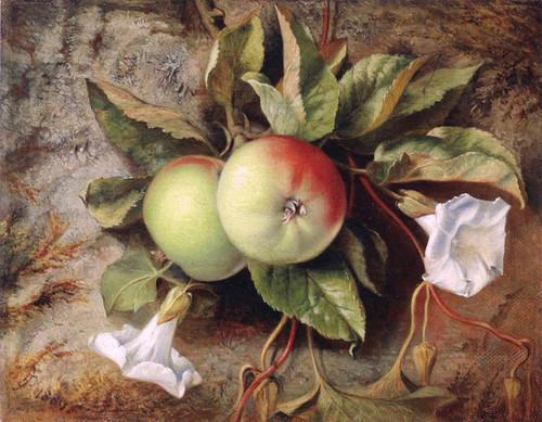 Autumn Apples And Convolvulus By Sir Edward John Poynter