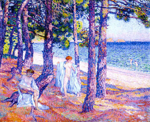 Bathers Under The Pines At Cavalliere (Also Known As Baigneuses Sous Les Pins A Cavalliere) By Theo Van Rysselberghe