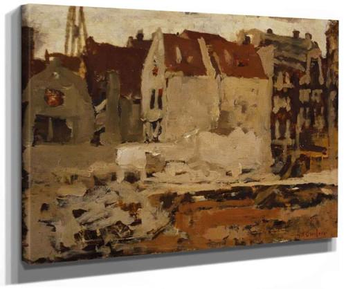 Bouwput Voor De Grand Bazar De La Bourse Aan De Nieuwendijk Te Amsterdam By George Hendrik Breitner
