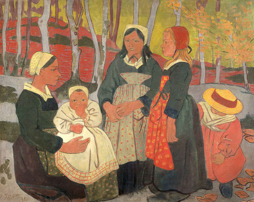 Bretons In The Forest Of Huelgoat By Paul Serusier