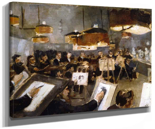 Drawing Class At The Academy By Theo Van Rysselberghe