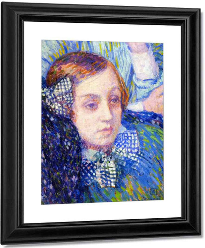 Elizabeth With Ribbons By Theo Van Rysselberghe