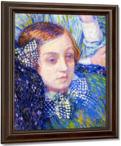 Elizabeth With Ribbons By Theo Van Rysselberghe Oil on Canvas Reproduction