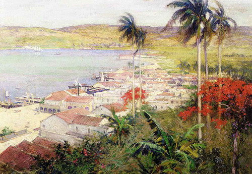 Havana Harbor By Willard Leroy Metcalf