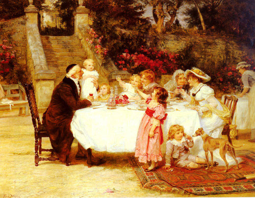 His First Birthday By Frederick Morgan