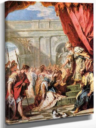Esther Before Ahasuenus By Sebastiano Ricci