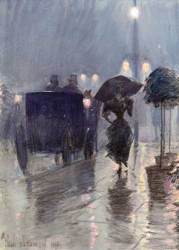 Evening In The Rain By Frederick Childe Hassam