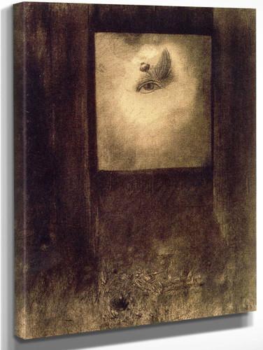 Eye With Poppy By Odilon Redon