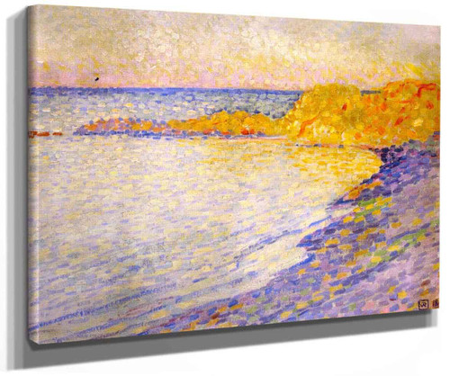 Small Beach At Saint Tropez (Also Known As Petit Plage A St Tropez) By Theo Van Rysselberghe