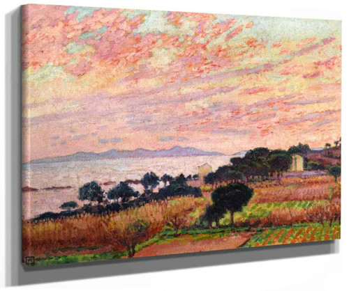 The Bay At Sunset (Saint Clair). By Theo Van Rysselberghe