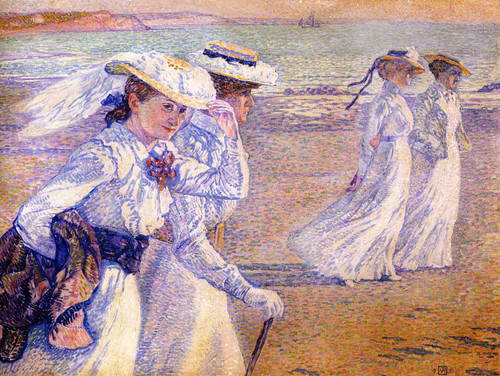 The Promenade (Also Known As The Stroll Women On The Beach) By Theo Van Rysselberghe