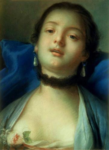Female Head By Francois Boucher
