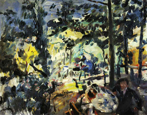 The Walchensee On The Terrace By Lovis Corinth