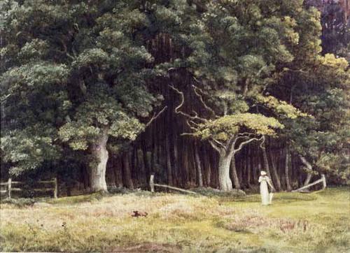 The Wooded Landscape By Sir Edward John Poynter
