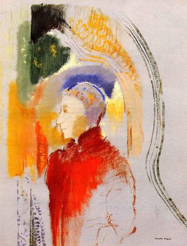 Figure In Profile By Odilon Redon