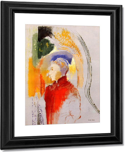 Figure In Profile By Odilon Redon