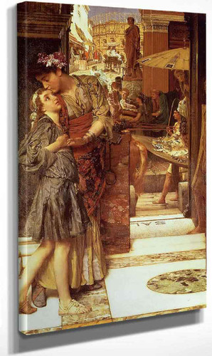 A Parting Kiss By Sir Lawrence Alma Tadema