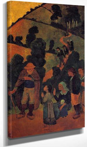 Bretons On A Path By Paul Serusier