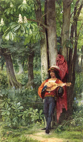The Troubadour By Sir Edward John Poynter