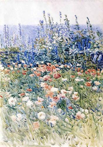 Flower Garden, Isles Of Shoals By Frederick Childe Hassam