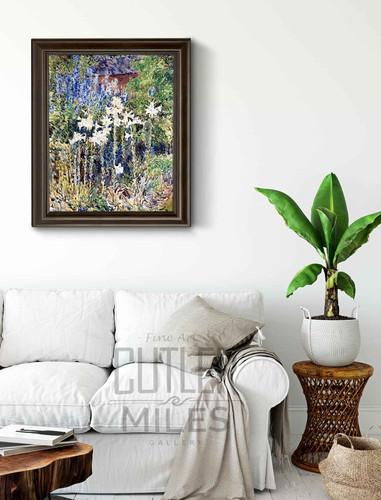 Flower Garden By Frederick Childe Hassam
