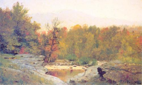 Autumn Catskill Mountains In The Mist by Thomas Worthington Whittredge